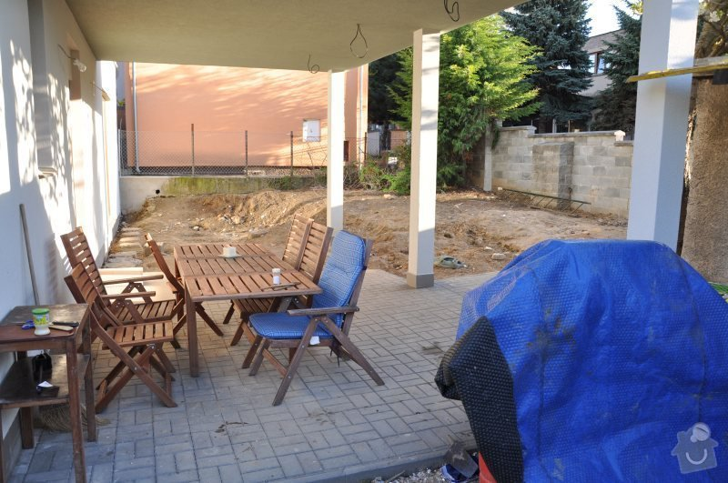 Návrh a realizace malé zahrady Praha 8 - Dolní Chabry: zapad_pohled_na_jih