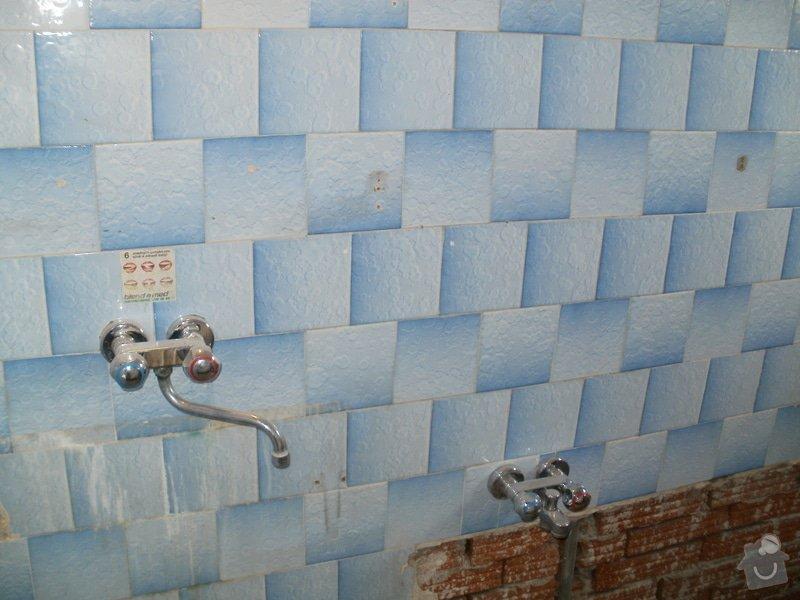 Rekonstrukce zděné koupelny: 1