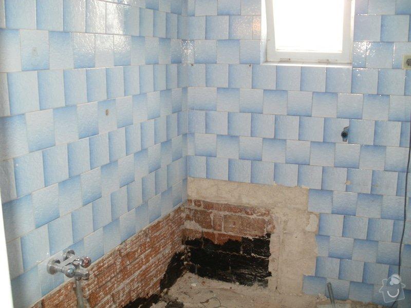 Rekonstrukce zděné koupelny: 3