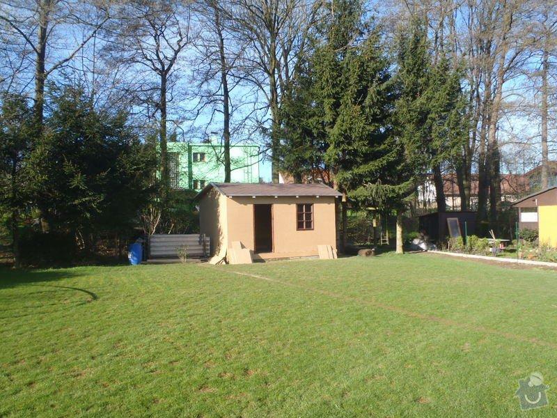 Stavba zahradní chatky: P4260540