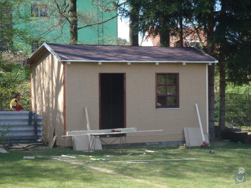 Stavba zahradní chatky: P4260561