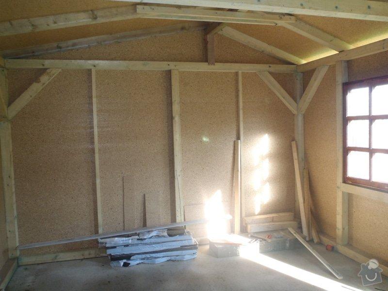 Stavba zahradní chatky: P4260546