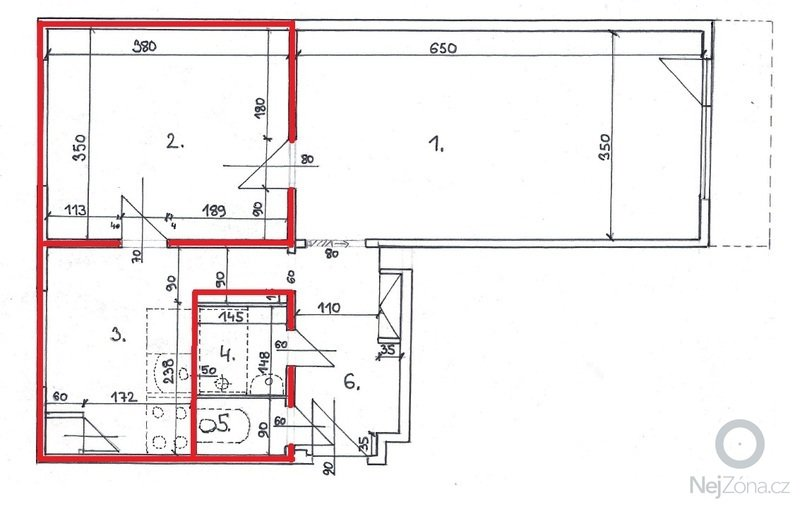 Rekonstrukce bytového jádra: Varianta_01