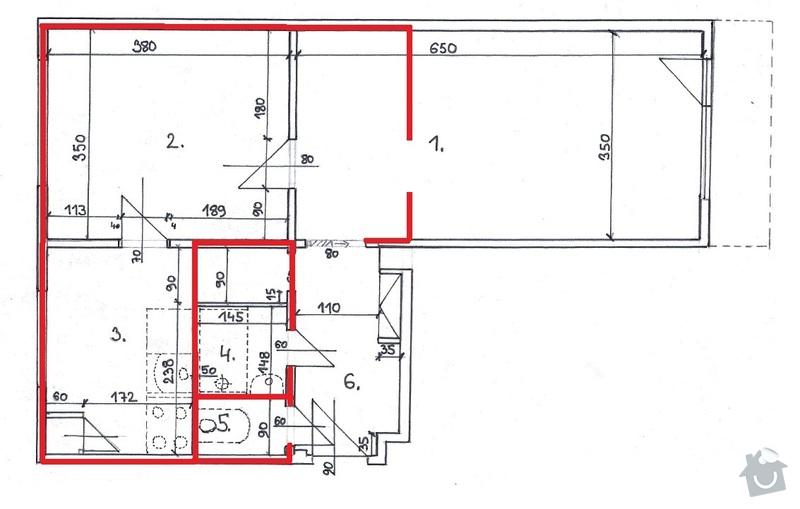 Rekonstrukce bytového jádra: Varianta_02