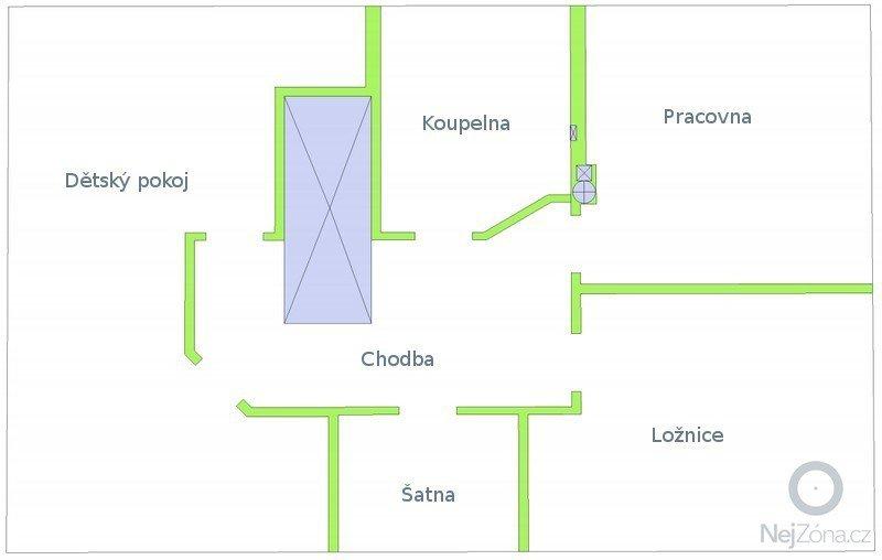Sádrokarton, příčky (60m2) a podhledy (80m2): b_zadani
