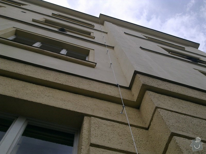 Oprava hromosvodu, instalace malého okapu: 24042012656