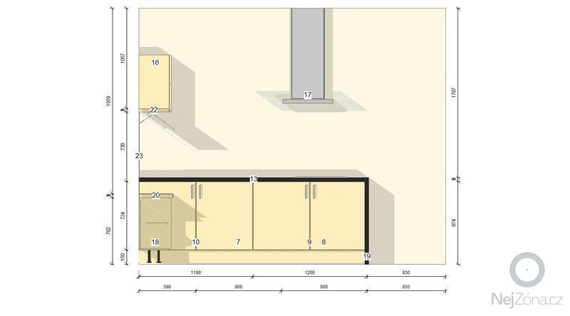 Kuchyňskou linku: pohled2