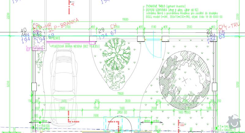 Zednické práce - stavba plotu : Vykres