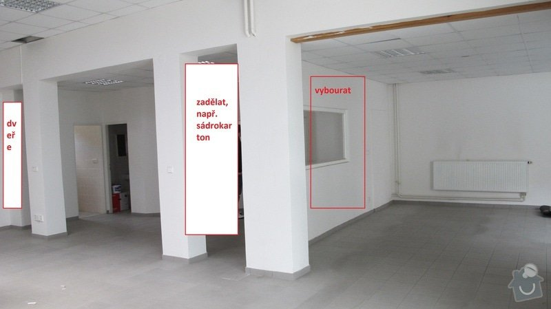 Stavební úpravy prodejny: prace