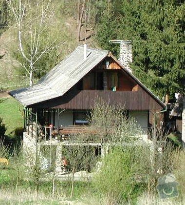 Výměna střešní krytiny cca 130 m2: chata_celo
