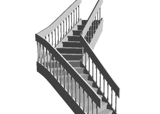 Dřevěné schodiště v RD