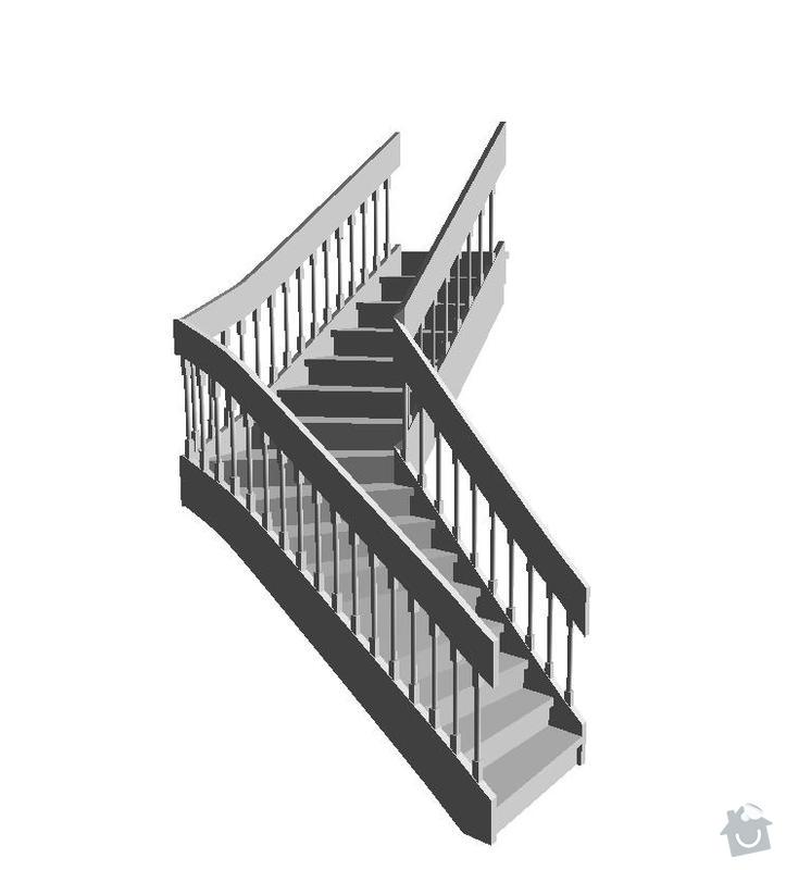 Dřevěné schodiště v RD: schody