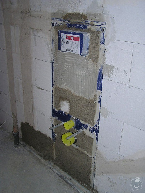 Voda a kanalizace - RD novostavba: P4020124