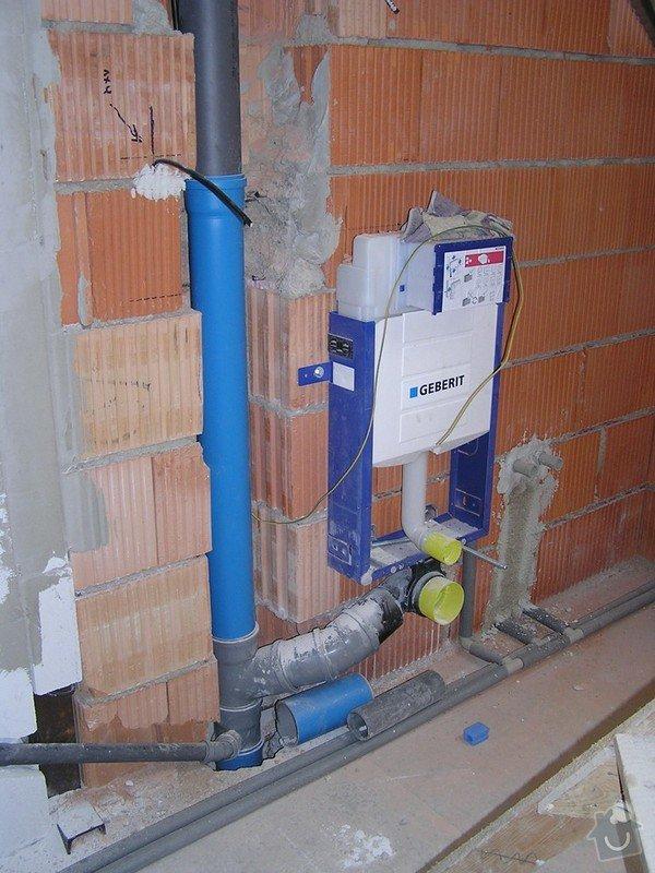 Voda a kanalizace - RD novostavba: P4020144