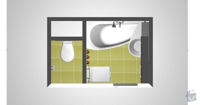 Rekonstrukce bytového jádra v 1. NP: pohled1