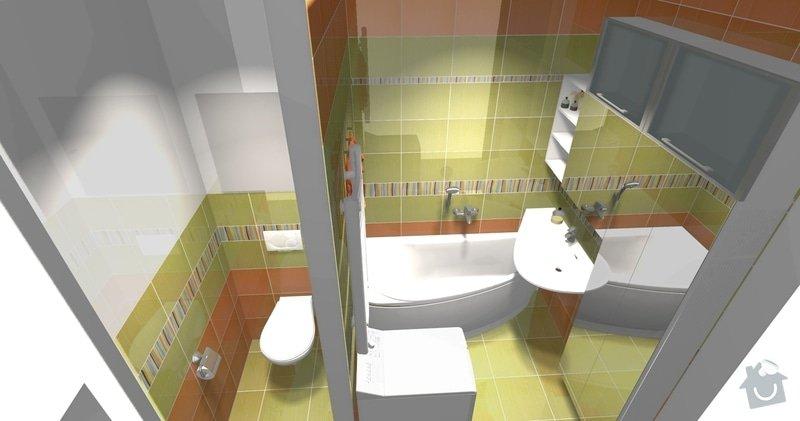 Rekonstrukce bytového jádra v 1. NP: pohled2