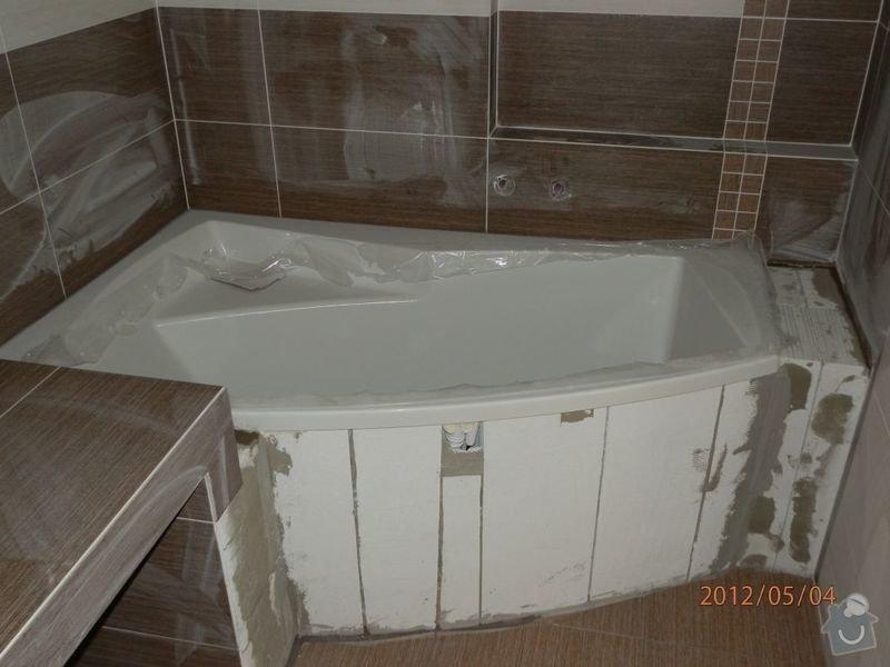 Obložení vany - mozaika - kalibr. dlaždice: P5040147