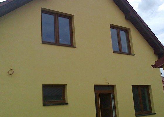 Nátěr fasády rodiného domu