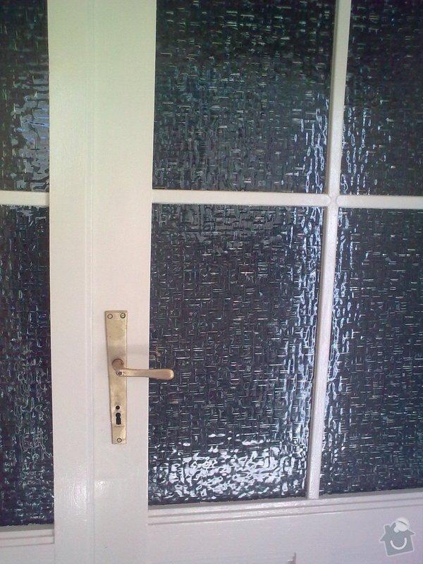 Repas dřevěných balkónových dvěří: Obraz0655