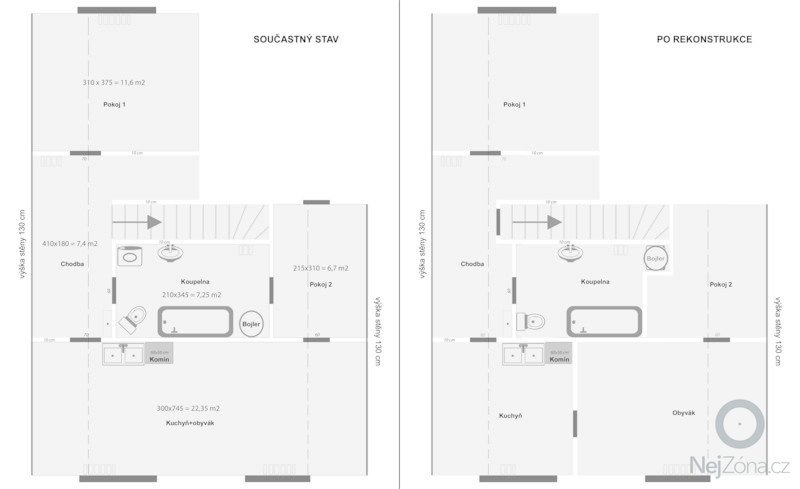 Rekonstrukce bytu 3+kk 55 m2 v RD Praha-východ: rekonstrukce_3_kk_Boranovice