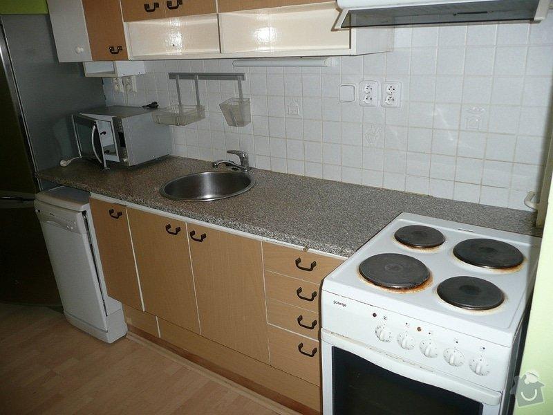 Dodávka a montáž kuchyňské pracovní desky a baterie, oprava protékajícího WC: Kuchyne_Mecislavova_1