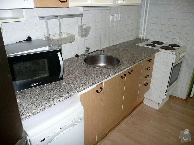 Dodávka a montáž kuchyňské pracovní desky a baterie, oprava protékajícího WC: Kuchyne_Mecislavova_2