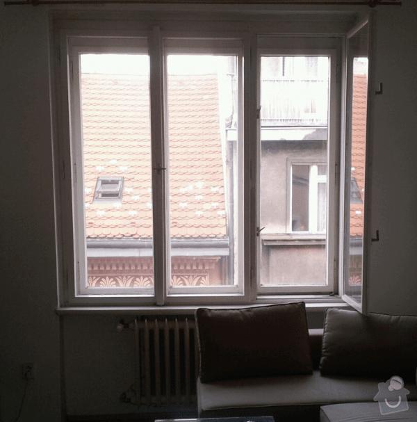 Dodávku a montáž garnýží, záclon, případně závěsů.: okno1