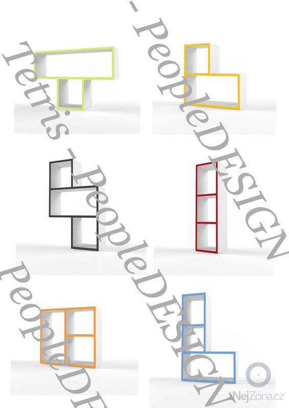 Výroba designových polic: Tetris_peopledesign