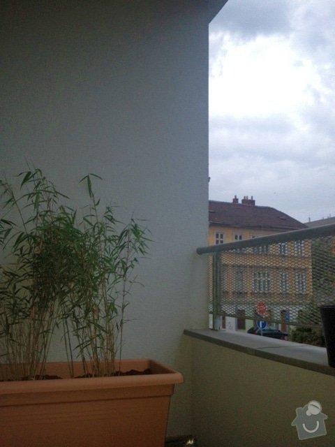 Zasíťování balkonu 2 x 7,2 m: balkon1