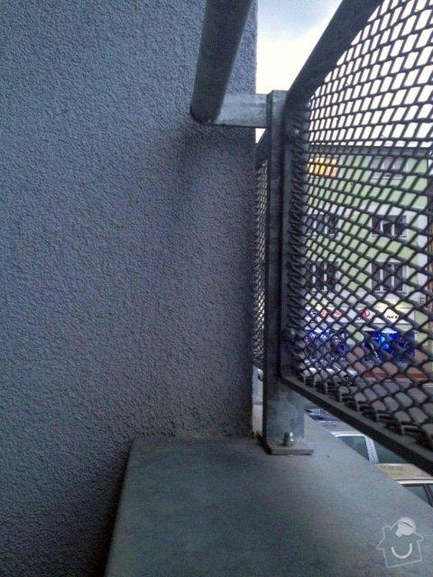 Zasíťování balkonu 2 x 7,2 m: balkon2