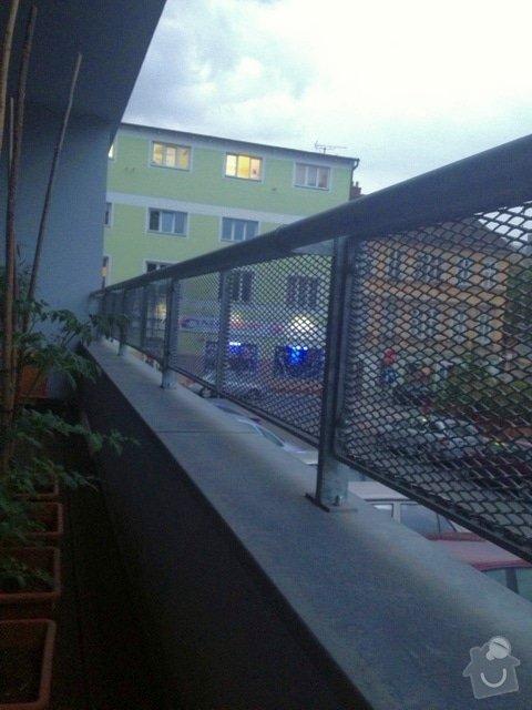 Zasíťování balkonu 2 x 7,2 m: balkon4