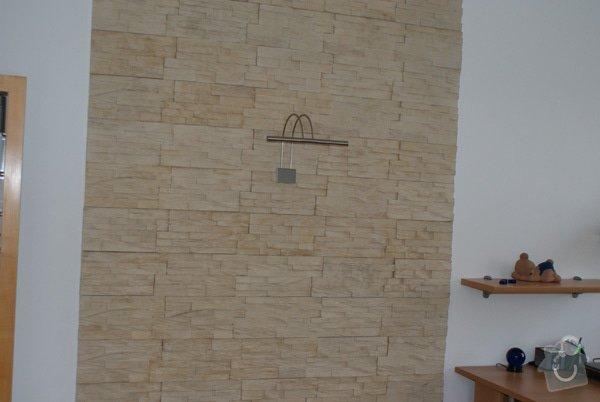 Obklad interiéru z umělého kamene: 1