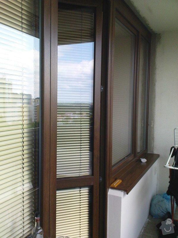 Dodávka a montáž plastových oken a balkonových dveří: balkon_Bohnice1