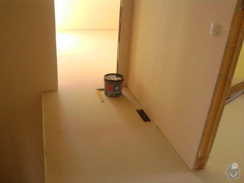 Vyrovnání podlahy, pokládka vinylových dílců: 9
