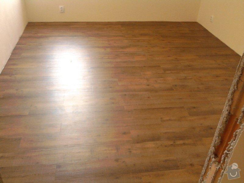 Vyrovnání podlahy, pokládka vinylových dílců: 17