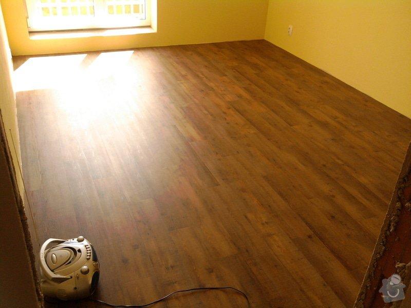 Vyrovnání podlahy, pokládka vinylových dílců: 19