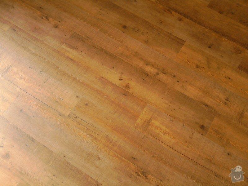 Vyrovnání podlahy, pokládka vinylových dílců: 20