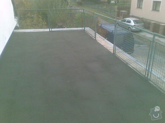 Terasa - položení EPS, hydroizolace, betonu a suché dlažby na terče: 01112011