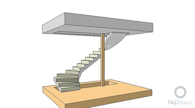 Dřevěné obložení schodiště: perspektiva_schody_Tocna