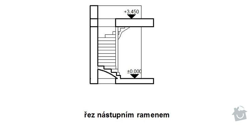 Dřevěné obložení schodiště: schodiste_rez_nastup.ram