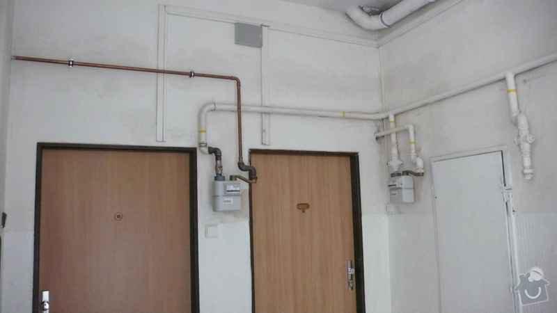 Rekonstrukce domovního rozvodu plynu - výměna plynových stoupaček, v bytovém domě Čajkovského, Praha 3: 06_rozvody_1.patro