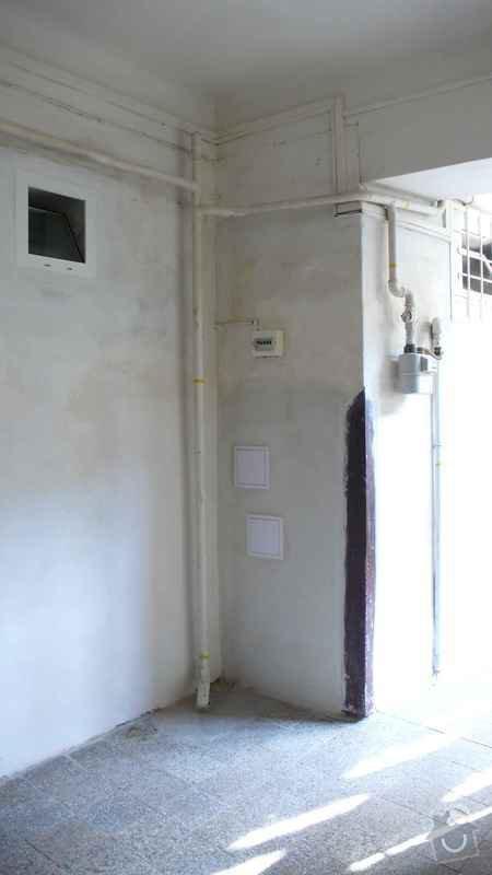 Rekonstrukce domovního rozvodu plynu - výměna plynových stoupaček, v bytovém domě Čajkovského, Praha 3: 08_stoupacka_2.patro