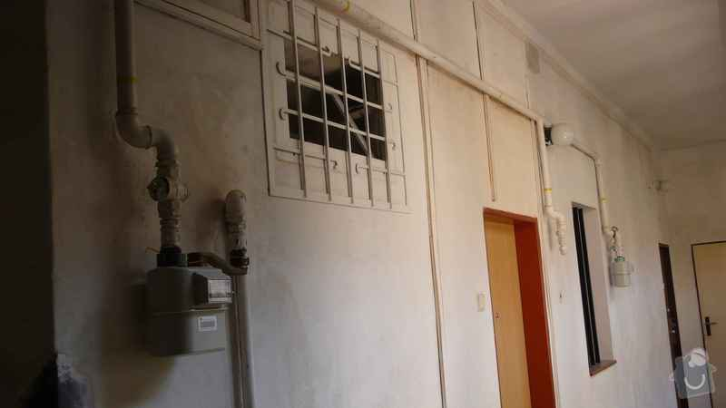 Rekonstrukce domovního rozvodu plynu - výměna plynových stoupaček, v bytovém domě Čajkovského, Praha 3: 10_rozvody_2.patro