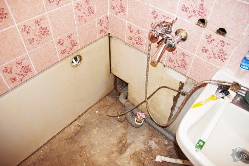 Instalace vany, pračky, baterie a obkladačské práce: koupelna2