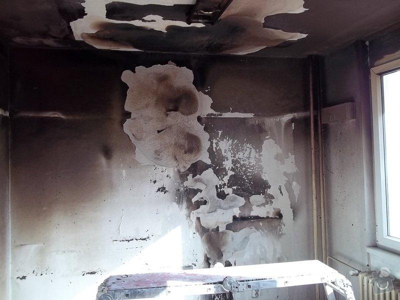 Oprava požárem poničených prostor: 100_1411