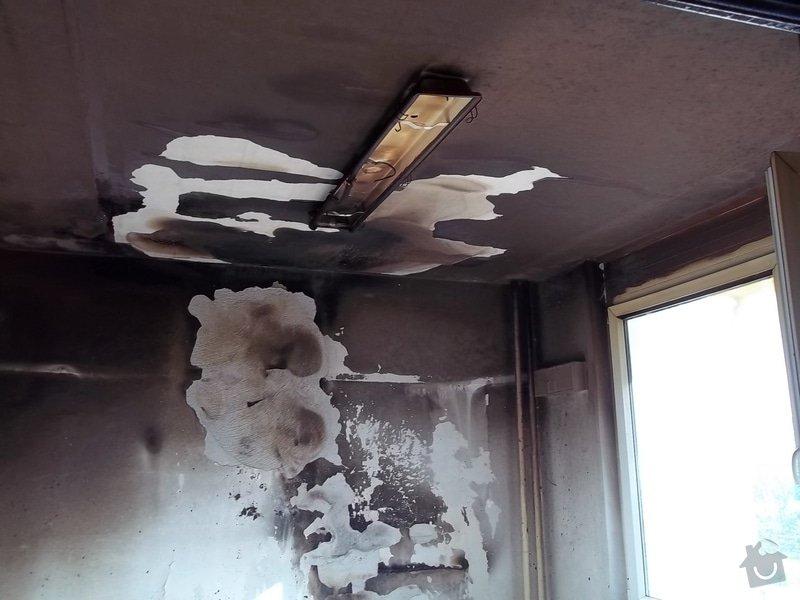 Oprava požárem poničených prostor: 100_1413