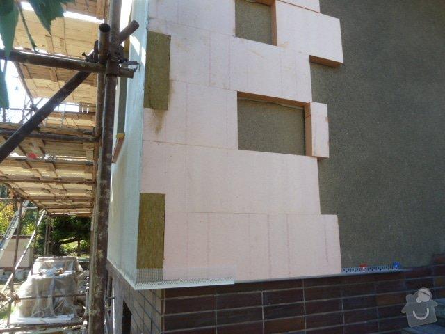 Zateplení fasády RD- Rockwool: P1050607