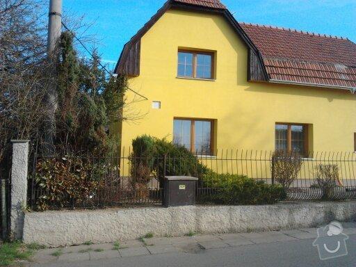 Zateplení fasády ,pokládka zámkové dlažby , rekonstrukce plotu a vjezdové brány.       : 1332745618520
