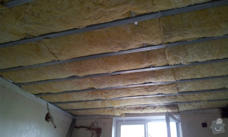 Odhlučnění stěny a podhledy s izolací: 20120528_133243