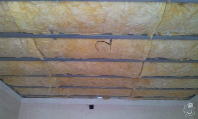 Odhlučnění stěny a podhledy s izolací: 20120528_133300